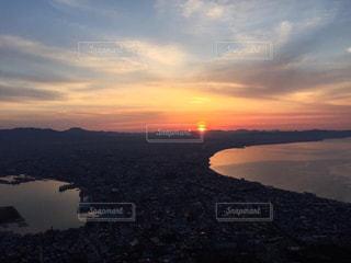 函館山の朝夜景の写真・画像素材[1016413]