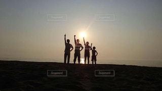海,夕日,北海道,兄弟,石狩,あそビーチ