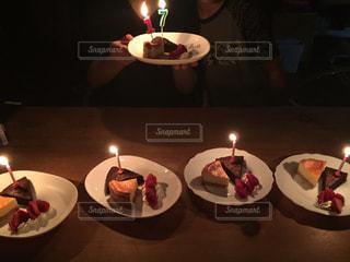 ケーキ,ろうそく,誕生日,ガトーショコラ,チーズケーキ,イチゴ