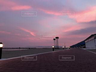 海,空,夕日,雲,夕焼け,夕暮れ,海岸,グラデーション,須磨