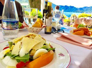 ランチ,ヨーロッパ,サラダ,レストラン,イタリア,海外旅行,Florence,ベッラージオ
