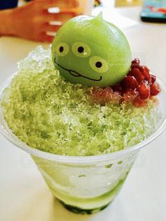 緑,抹茶,おいしい,かき氷,ディズニーランド,TDL,友達