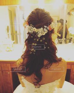 ウエディングヘアスタイルの写真・画像素材[1036496]