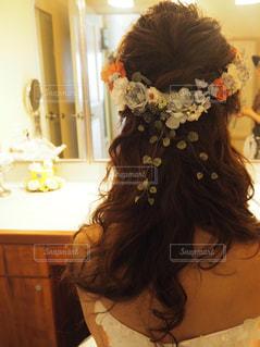 女性,20代,レディース,ヘアスタイル,結婚式,花嫁,ウエディング,wedding,美容,ロング,パーマ,ゆるふわ