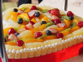 バースデー ケーキで食品のプレート - No.810913