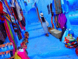 青の街の写真・画像素材[812583]