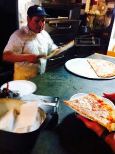 ニューヨーク,チーズ,ファストフード,安い,お手軽,ピザ,スライス