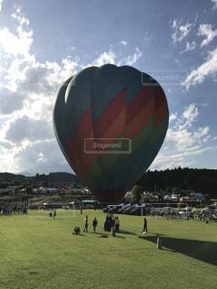 初めて乗った熱気球の写真・画像素材[4532747]