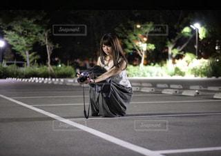 カメラ女子の写真・画像素材[1262602]