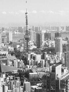 都市の黒と白の写真の写真・画像素材[851212]