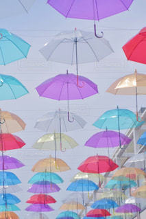 カラフルな傘の写真・画像素材[778958]