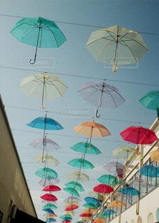 カラフルな傘の写真・画像素材[4605722]