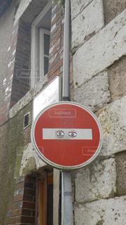 標識,フランス,路地,目,落書き