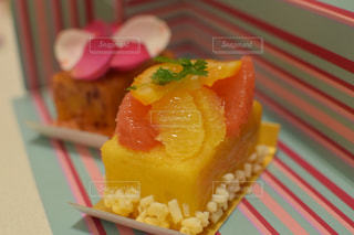 ケーキ,オレンジ,グレープフルーツ