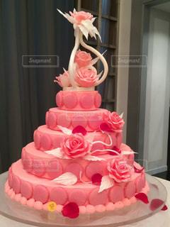 花,ケーキ,ピンク,バラ,花びら,薔薇,ローズ,ピエールエルメ,イスパハン