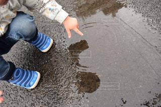 雨,子供,梅雨,天気,息子,水溜まり,雨の日
