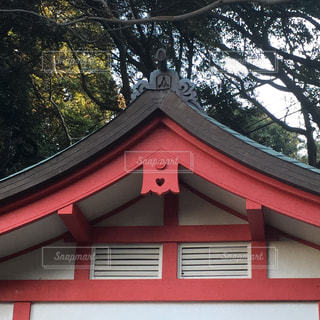 神社,ハート,隠れハート