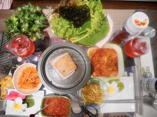 韓国,うちごはん,ホームパーティ,サムギョプサル,チョーヤ,しそ梅酒