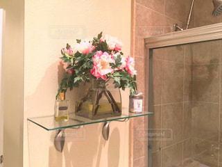 インテリア,花,バスルーム,アメリカ,造花