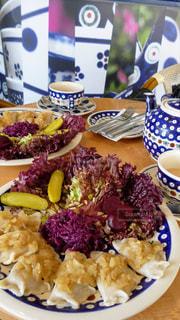 食べ物,カフェ,海外,かわいい,ヨーロッパ,旅行,イギリス,食器,カップ,ブルー,レストラン,女子旅,グルメ,ティーポット,ポーリッシュ,ポーランド料理,ポーリッシュポッタリーカフェ,ルイス