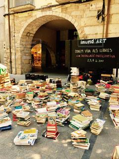 黄色,本,読書,アート,図書館,テーブル,本棚,黒板,本屋,路地,路上,セット