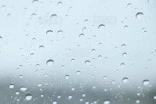 雨の中で飛んでいる鳥の群れの写真・画像素材[819690]