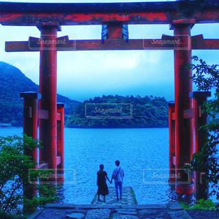 箱根時間の朝の静かな時間の写真・画像素材[916427]