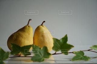 食べ物,緑,黄色,フルーツ,果物,梨,くだもの,果実,アイビー,洋梨,食材,自宅,洋ナシ,白バック,ルレクチェ