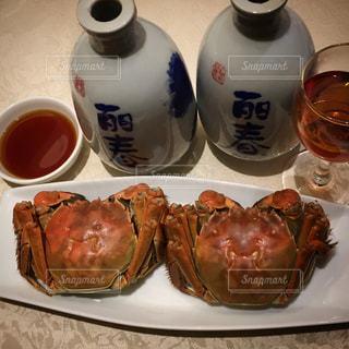 #上海蟹#紹興酒#お疲れさまの写真・画像素材[479932]