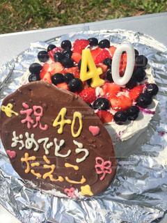 ケーキ,いちご,生クリーム,ブルーベリー,手作り,パーティー,BBQ,バースデー,お誕生日,イチゴ,40歳