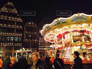 冬,イルミネーション,クリスマス,ドイツ,クリスマスマーケット,フランクフルト,メリーゴーラウンド