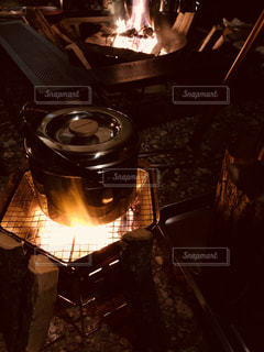 冬キャンプの料理の写真・画像素材[1760208]