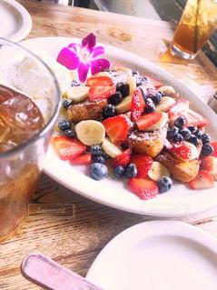 食べ物,赤,紫,苺,果物,ブルーベリー,ティータイム,果実,ハワイ,Hawaii,cafe,女子旅,ハワイ旅行,ハワイカフェ,メープルシロップ,バナナ