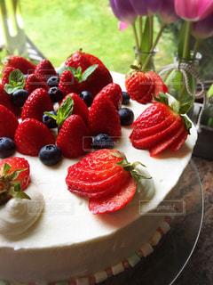 ケーキ,苺,ブルーベリー,誕生日,ミント