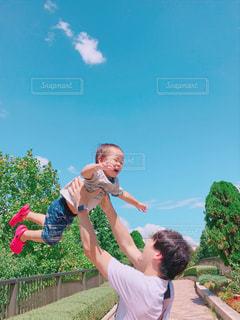 パパとぼくの写真・画像素材[2201808]