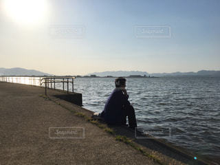 湖,男,悲しい,黄昏