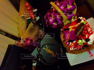 近くの花のアップの写真・画像素材[869297]