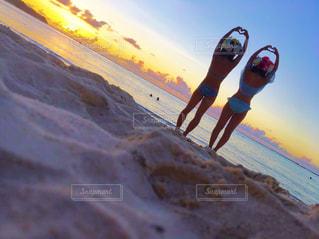 海,空,砂,晴天,水着,ハート,beach,GUAM,タモンビーチ