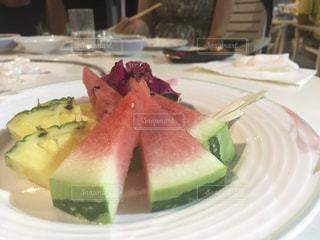 伊江島YYY伊江リゾート食後のデザートの写真・画像素材[1239863]