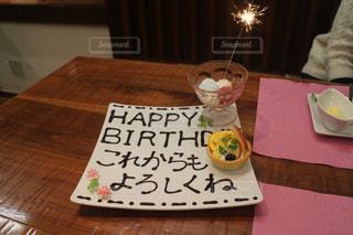 ケーキ,花火,小さい,誕生日