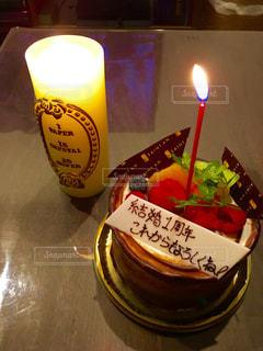 ケーキ,チョコ,ホールケーキ,結婚記念日,1年