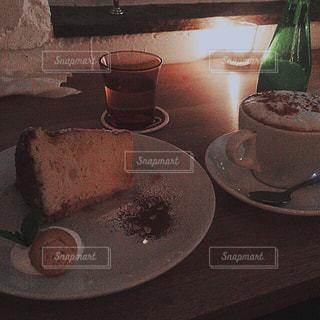 カフェ,ケーキ,クリーム,シフォンケーキ,けーき
