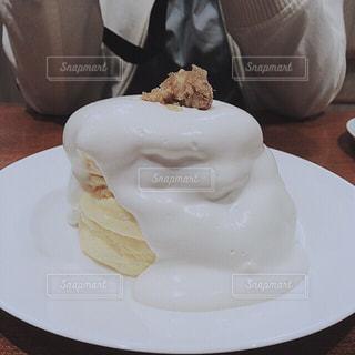 カフェ,ケーキ,パンケーキ,白,クリーム,ふわふわ,腹ペコ,フワフワ,けーき,くりーむ