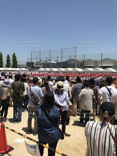 校庭,快晴,運動会,体育祭,小学校,赤帽子,学校行事,白帽子