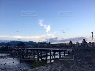 京都,夕方,観光,嵐山,渡月橋