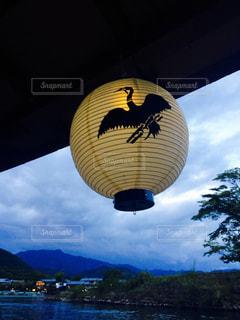 京都,舟,夕方,観光,提灯,嵐山,鵜飼