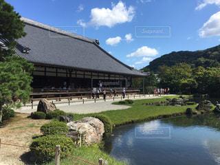 京都,青空,世界遺産,観光,日本,嵐山,和,寺,天龍寺