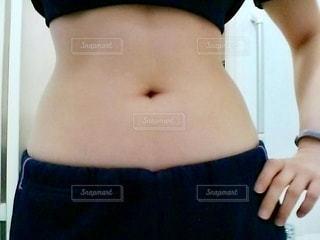 女性,自撮り,女の子,トレーニング,ダイエット,お腹,筋トレ,くびれ