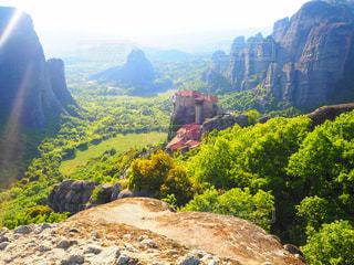 背景の山と渓谷の写真・画像素材[787763]