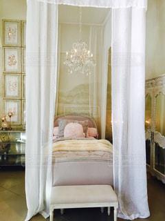 インテリア,シャンデリア,可愛い,ベッド